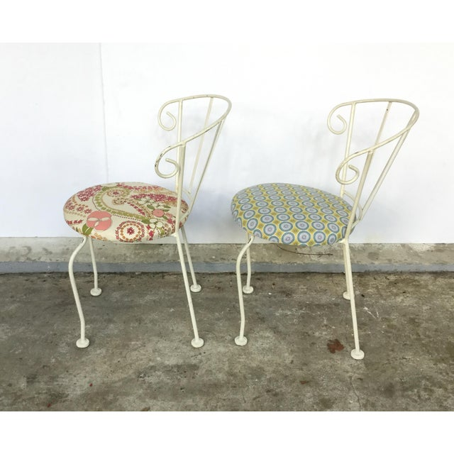Mid-Century Painted Cast Iron Chairs - A Pair - Image 5 of 9