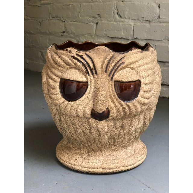 Mid Century Ceramic Owl Planter by Haeger For Sale - Image 10 of 10