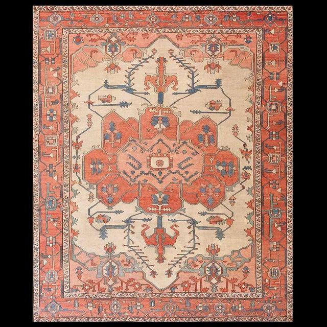 Late 19th Century Antique Serapi Rug 9 4 11 6 Chairish