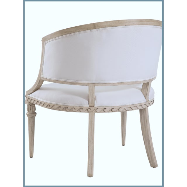 Swede Collection Swedish Wave Rim Occasional Chair For Sale - Image 4 of 6