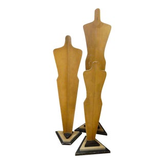 French Art Deco Clothing Forms - Set of 3