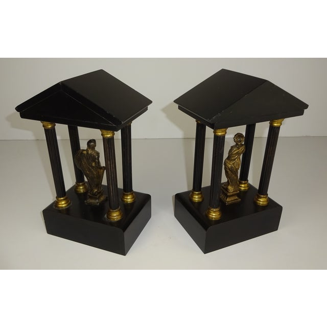 Belgian Miniature Marble & Bronze Temples - A Pair - Image 7 of 11