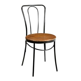 Wood Seat Bistro Chair
