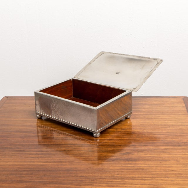1940s 1940s Danish Modern Jewelry Box With Balled Feet For Sale - Image 5 of 8