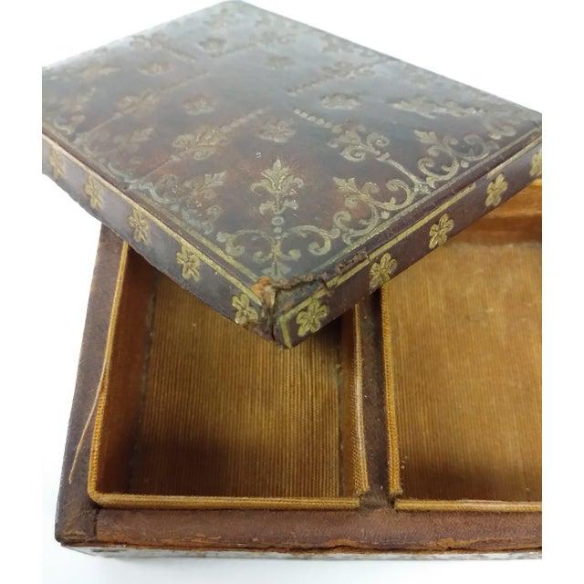 Mini Fleur-de-Lis Leather Box - Image 7 of 10