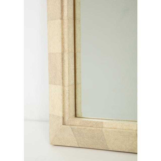 Animal Skin R & Y Augousti Mirror With Shagreen Frame For Sale - Image 7 of 10