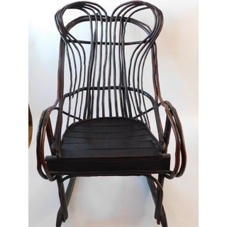 20th C. American Adirondack Twig Willow Rocking Chair Preview