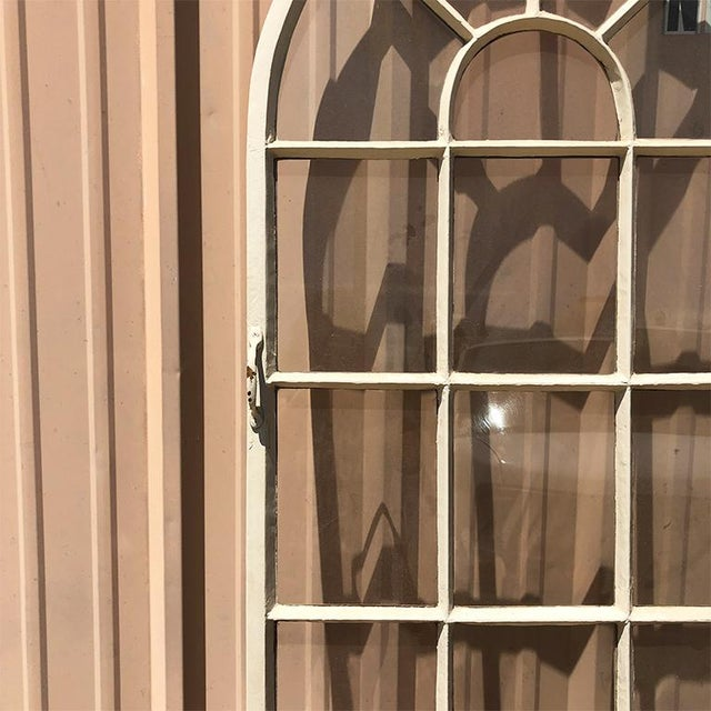 Hollywood Regency 1920s Painted Steel Patio Door or Window 20 Pane Window or Door For Sale - Image 3 of 7