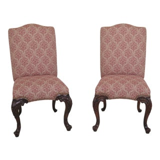 1960s Vintage Theodore Alexander Althorp Collection Georgian Chairs- A Pair For Sale