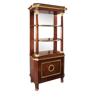 Continental Neoclassical Parcel Gilt Etagere