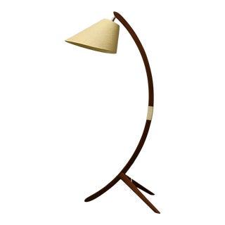 Teak Mid Century Modern Arch Lamp For Sale