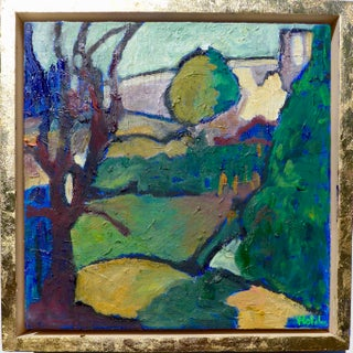 """Contemporary """"Garden in France"""" Oil Painting by Martha Holden For Sale"""