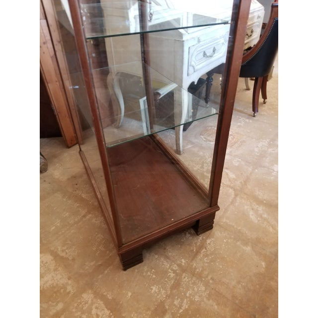 1910s Antique Mahogany Display Case Cabinet For Sale - Image 5 of 9