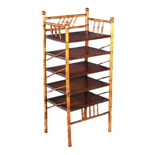 1930s Antique Bamboo Etagere For Sale