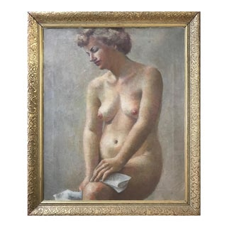 Impressionist Female Nude Oil Painting C.1920 For Sale