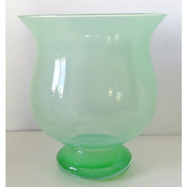 Light Green Large Blown Glass Vase For Sale - Image 8 of 8