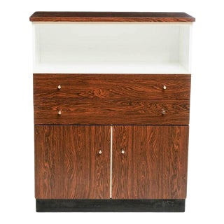 Mid-Century Deco Modern Formica Rosewood Cabinet For Sale