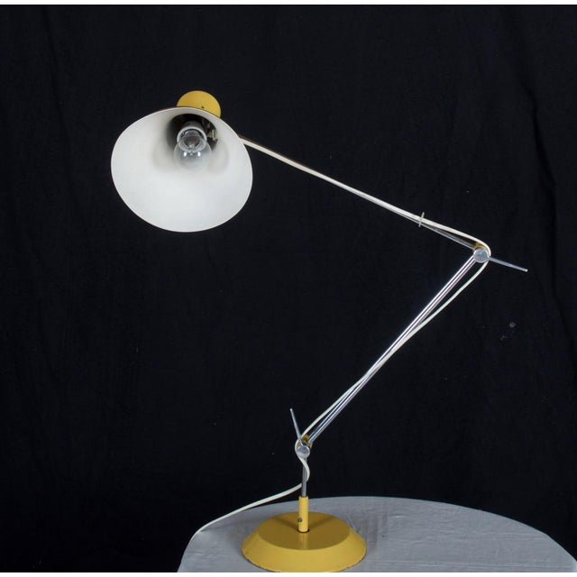 1970s Yellow Czech Table Lamp by Josef Hurka for Napako, 1970s For Sale - Image 5 of 8