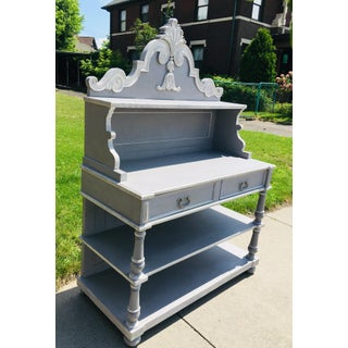 Vintage Gray Rustic French Country Cabinet Preview