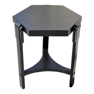 1940s French Art Deco Black Ebonized Coffee Table For Sale
