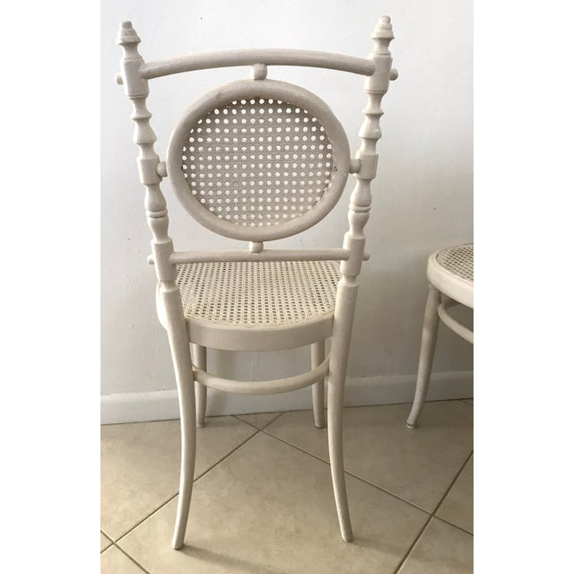 1910s Antique 1913 Fischel Bentwood French Bistro Chairs - a Pair For Sale - Image 5 of 11