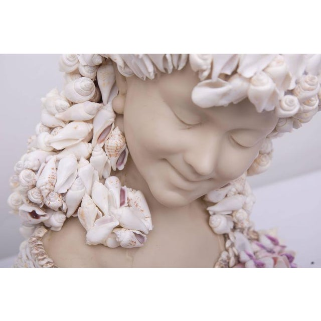 Modern Shell-Encrusted Composition Bust For Sale - Image 3 of 7