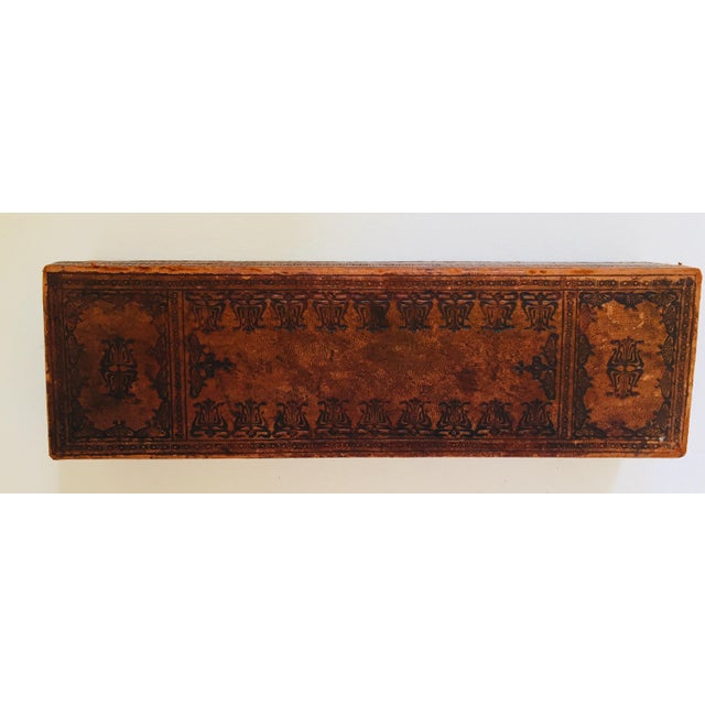"""Early 20th Century French Antique Glove Box by """"A La Marquise De Sevigne Paris"""" For Sale - Image 5 of 12"""