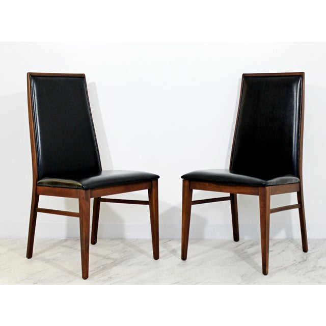 1960s Mid Century Modern Milo Baughman Directional Dining Table Dillinghman 6 Chairs For Sale - Image 5 of 12