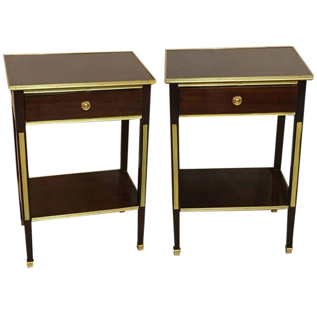 Pair of One Drawer Russian Style Bronze-Mounted Tables For Sale