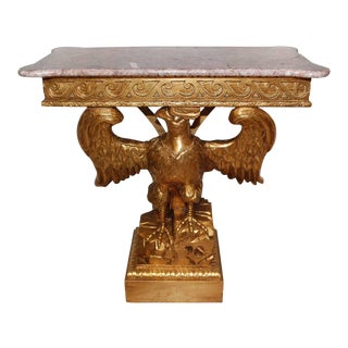 Giltwood Eagle Console Table For Sale