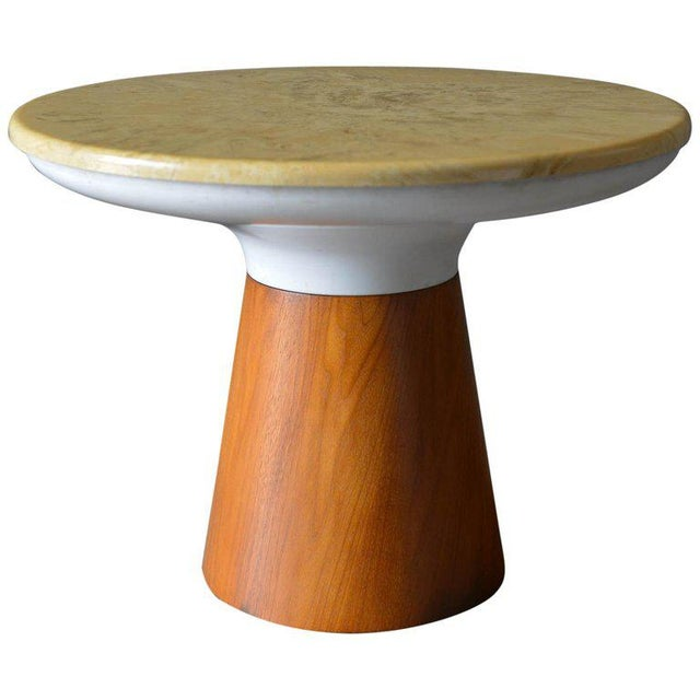 Brown 1965 Vintage Frank Rohloff for Brown Saltman Stone Occasional Table For Sale - Image 8 of 8