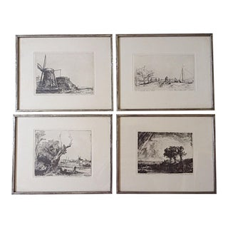 20th Century Rembrandt Etchings - Set of 4