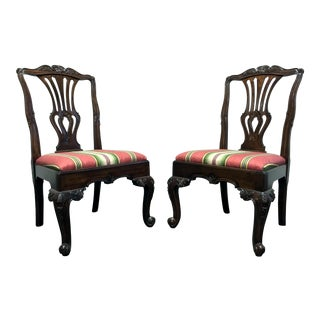 Hekman Marsala Oak French Country Dining Side Chairs - Pair 1 For Sale
