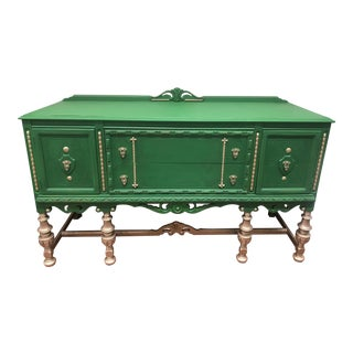 VIntage Kelly Green Sideboard