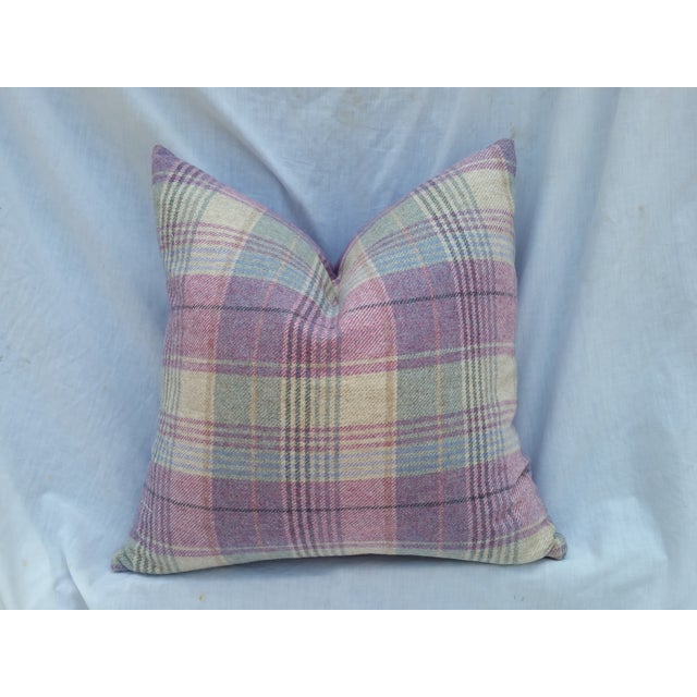 This is a super soft 100% wool lavender and pale green pillow. Fabric from Liberty of London and made in Scotland. Comes...