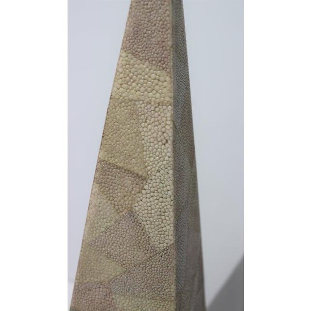 1980s Vintage Maitland-Smith Shagreen Obelisks - a Set of 2 For Sale - Image 5 of 11