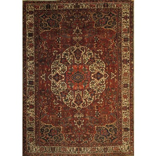 "Pasargad Ny Semi-Antique Persian Bakhtiari Hand-Knotted Rug - 12'1"" X 17'6"" For Sale"