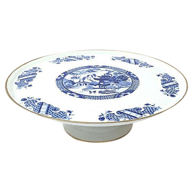 Chinoiserie Limoges Porcelain Cake Plate For Sale