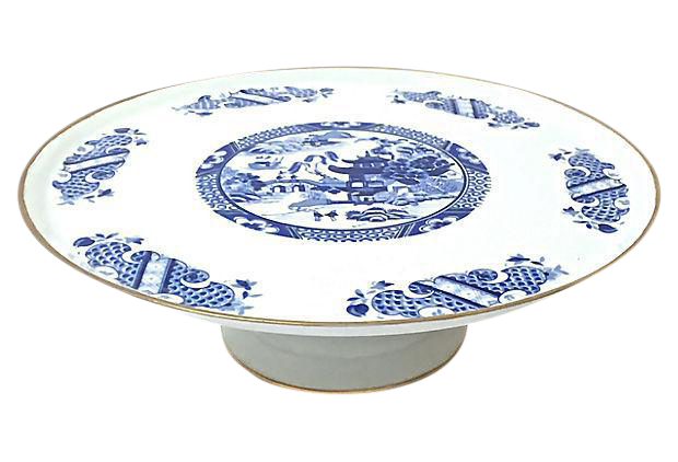 sc 1 st  Chairish & Chinoiserie Limoges Porcelain Cake Plate | Chairish