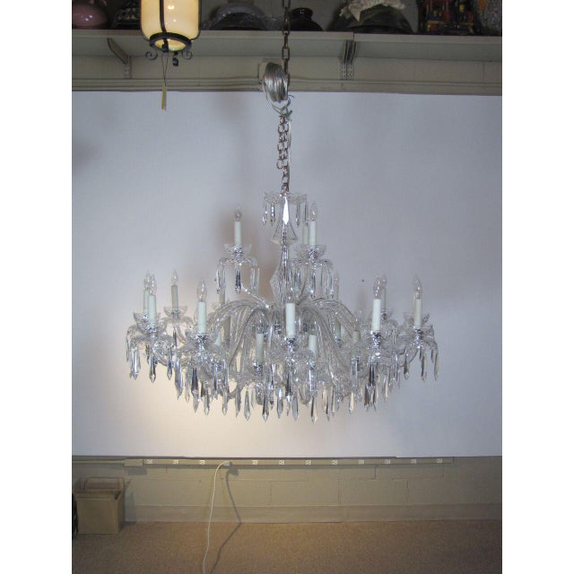 4 ft wide, Original chandelier from the former Swissotel Boston, Waterford, Mid century