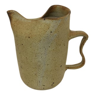 Artisan Stone Clay Free Form Pitcher