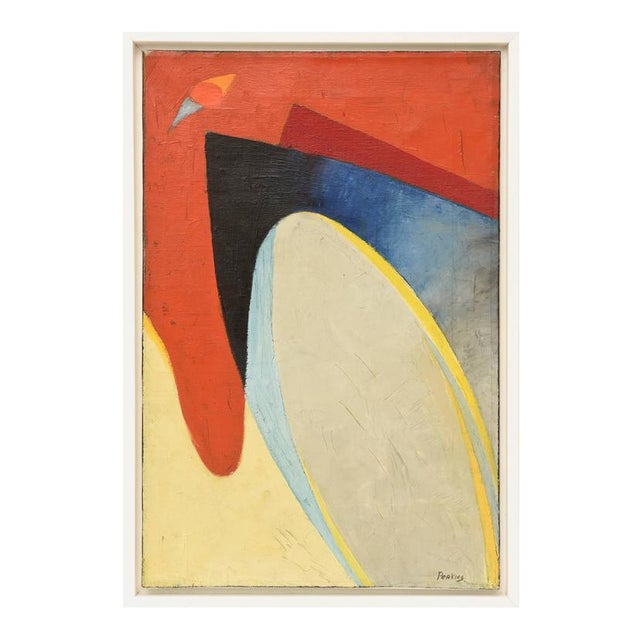 Signed Philip Perkins Vintage Cubist Painting - Image 1 of 9