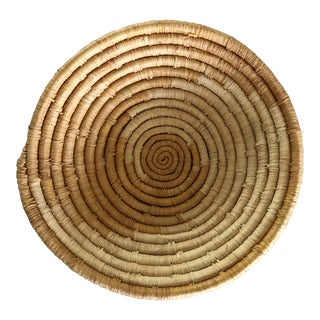 Vintage Handmade African Basket For Sale
