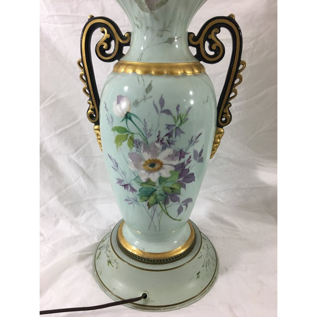 Old Paris Springtime Lamps With Hand-Painted Toile Base - a Pair For Sale - Image 9 of 11