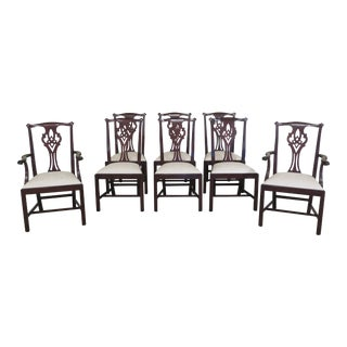 Henkel Harris Model 102 Mahogany Dining Room Chairs- Set of 8 For Sale