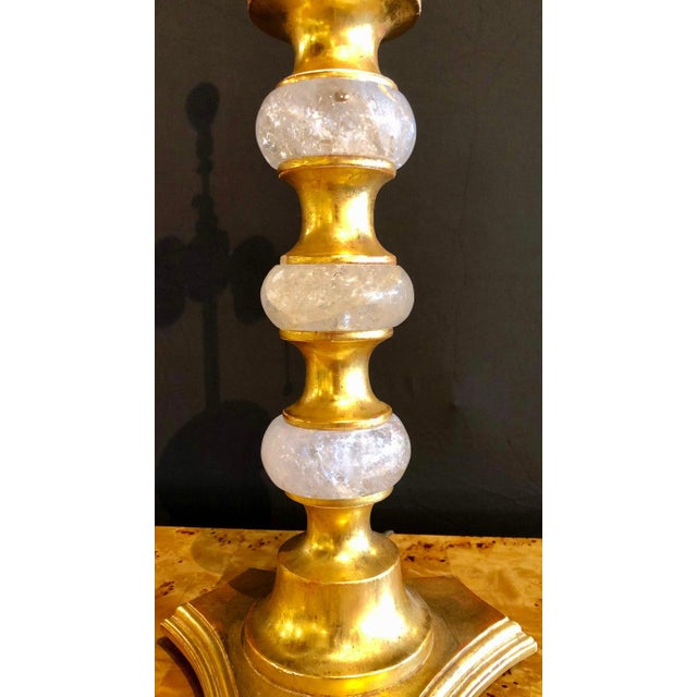 Art Deco Rock Crystal Table Lamps - a Pair For Sale - Image 12 of 13