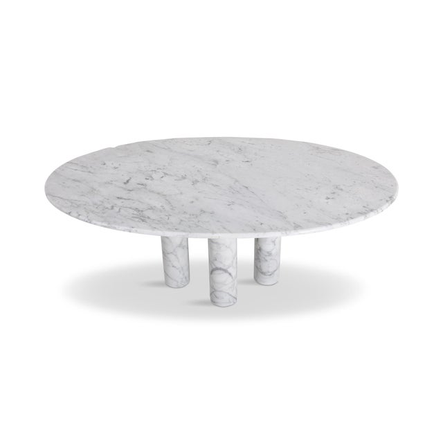 Stone Mario Bellini Il Colonnata Oval Dining Table in Carrara Marble for Cassina For Sale - Image 7 of 12