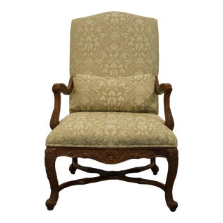 Bernhardt Furniture Louis XVI French Provincial Upholstered Arm Chair For Sale