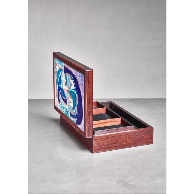 Mid-Century Modern Alfred Klitgaard & Bodil Eje Decorative Box, Denmark, 1960s For Sale - Image 3 of 5
