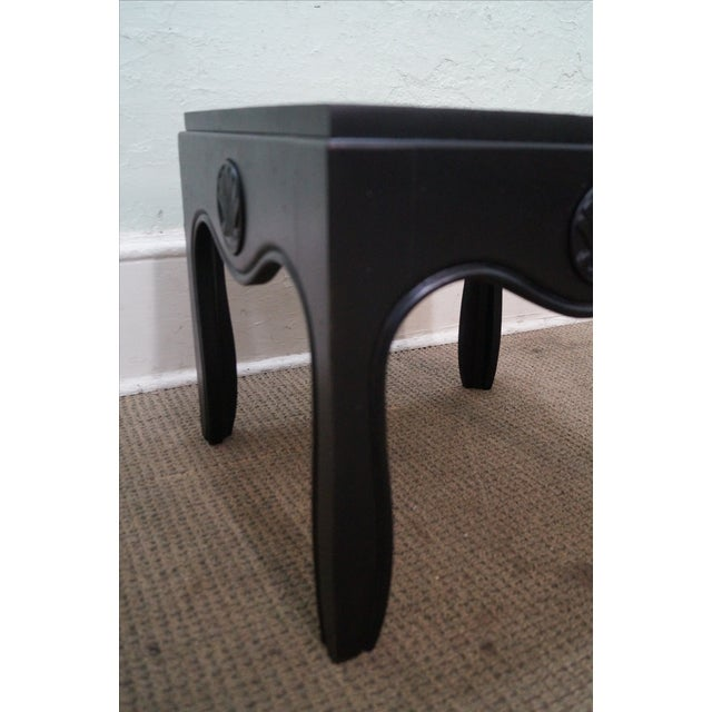 Mid-Century Ebonized Black Slate Top Side Tables - A Pair For Sale - Image 5 of 10